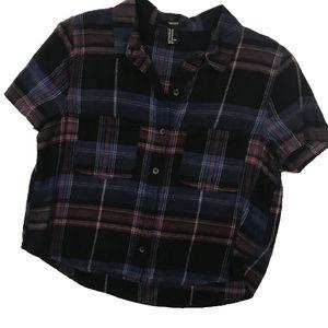 Forever 21 Short Sleeve Flannel